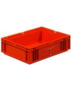 Serie Odette de cajas de plástico. Cajas Galia sector automoción.